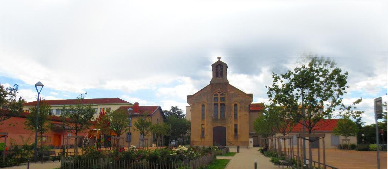 L'église Sainte-Jeanne d'Arc de Parilly à Vénissieux